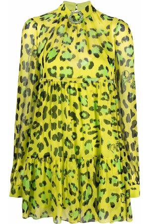 Philipp Plein Leopard-print silk dress