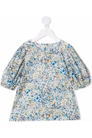 Zhoe & Tobiah Floral-print puff-sleeve blouse