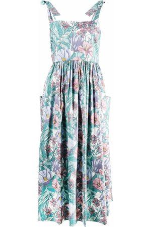 Tory Burch Floral-print sleeveless midi dress