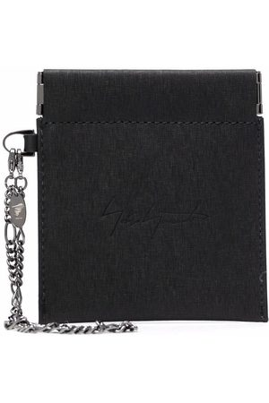YOHJI YAMAMOTO Spring Mouth leather coin pouch