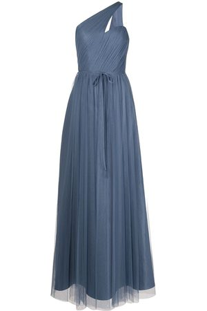 Marchesa Notte Asymmetric one-shoulder dress