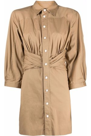 Dsquared2 Ruched-detail shirt dress