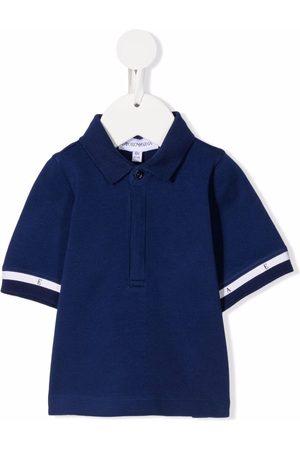 Emporio Armani Stripe-detail short-sleeved polo shirt