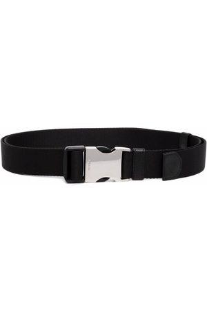 Prada Heren Riemen - Logo-engraved woven nylon tape belt
