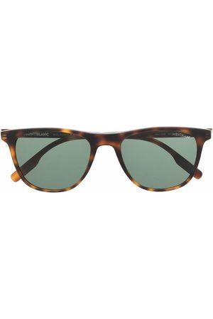 Mont Blanc Tortoiseshell-effect tinted sunglasses
