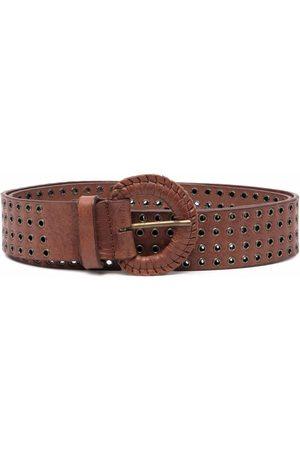 Gianfranco Ferré 2000s eyelet-embellished buckle belt