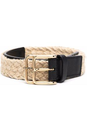 Gianfranco Ferré 2000s woven double-buckle belt