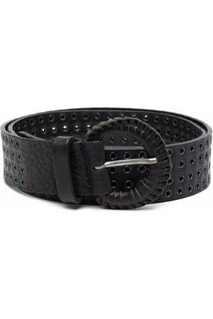 Gianfranco Ferré Riemen - 2000s eyelet embellished leather belt