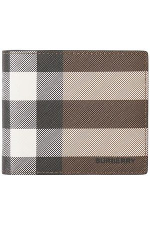 Burberry Check-pattern folding wallet