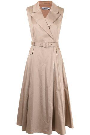 Self-Portrait Sleeveless tailored midi dress