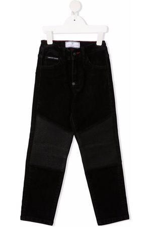Philipp Plein Straight-leg biker trousers