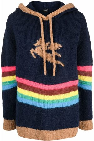 Etro Intarsia-knit hoodie