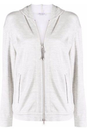 Brunello Cucinelli Dames Sweaters - Long-sleeved zip-up hoodie