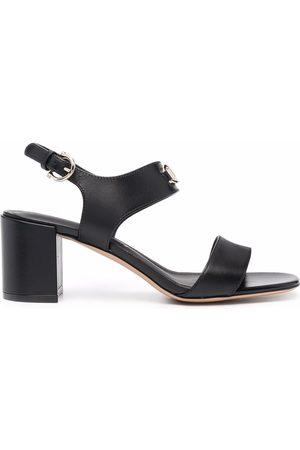 Salvatore Ferragamo Gancini-plaque leather sandals