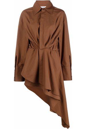 The Attico Dames Asymmetrische jurken - Asymmetric gathered shirt-dress