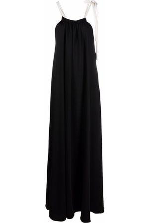 12 STOREEZ Drawstring-neck maxi dress