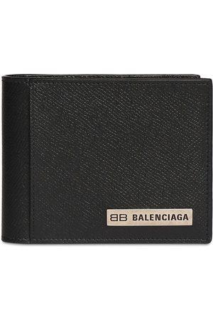 Balenciaga Heren Portefeuilles - Metal Logo Leather Wallet
