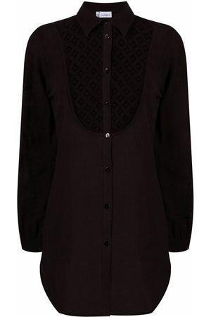 La Perla Cut out-detail button-up shirt