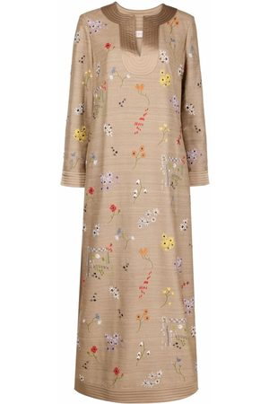 Tory Burch Embroidered-floral tunic dress