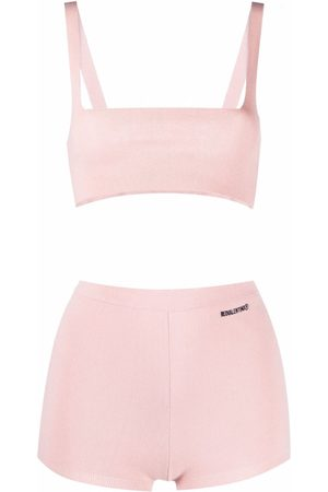 RED Valentino Knitted crop top and shorts set