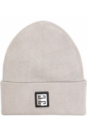Givenchy Logo-patch cotton beanie