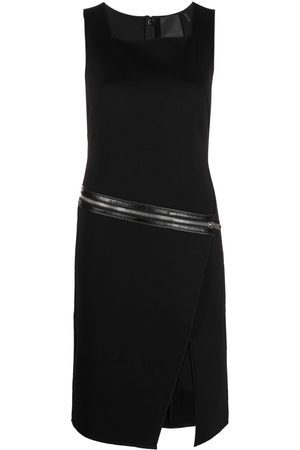 Givenchy Zip-embellished wrap-skirt dress
