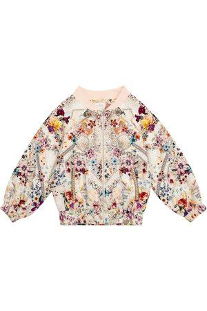 Camilla Meisjes Bomberjacks - Floral bomber jacket