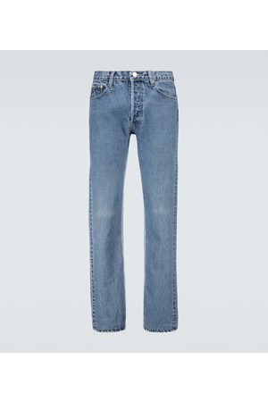 Balenciaga Heren Straight - Recycled slip patch jeans