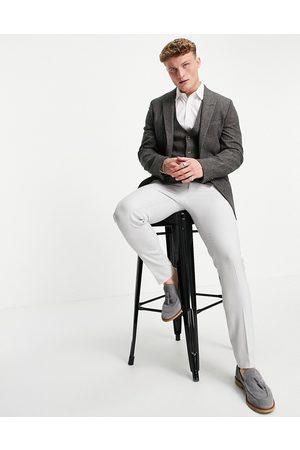 ASOS Skinny suit jacket in grey nep texture