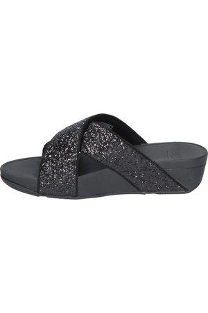 FitFlop Dames Clogs - X02 Black Glitter Muilen