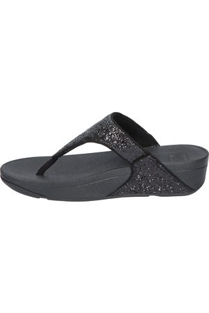 FitFlop Dames Slippers - X03 Black Glitter Slippers