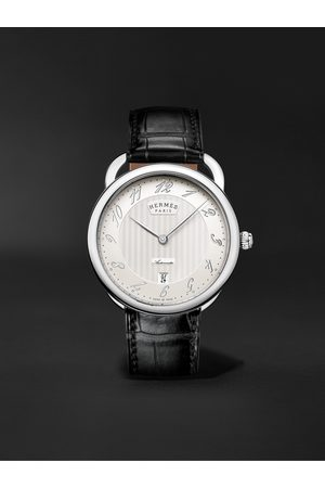 Hermès Heren Horloges - Arceau Automatic 40mm Stainless Steel and Alligator Watch, Ref. No. 055574WW00