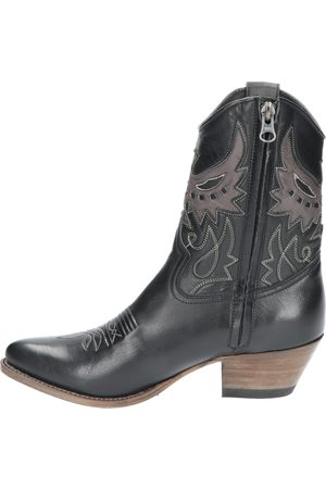 Sendra Dames Cowboy Boots - 16577 Lia Salvaje Negro Antracite Western boots