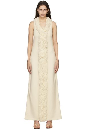 Bottega Veneta Off-White Wool Toweling Fringes Dress