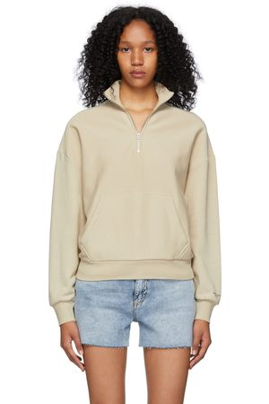 RAG&BONE Khaki Half-Zip City Sweatshirt