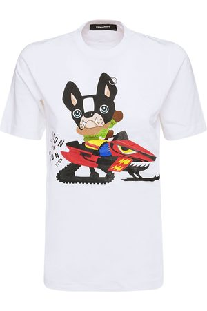 Dsquared2 Dames T-shirts - Icon Patch Cotton Jersey T-shirt