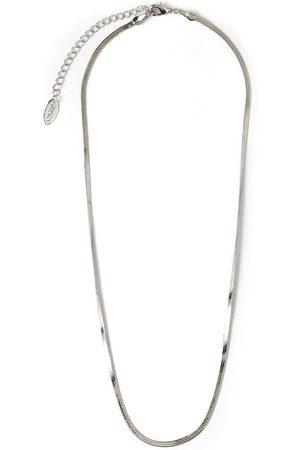 Orelia Kettingen Flat Snake Chain Necklace Zilverkleurig