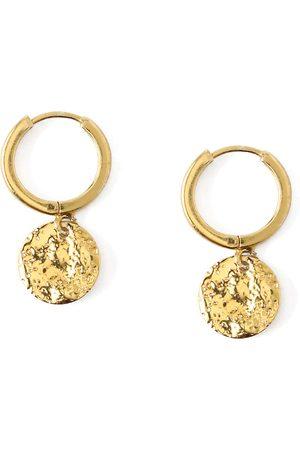 Orelia Oorbellen Molton Coin Huggie Hoop Earrings Goudkleurig