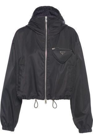Prada Re-Nylon hooded track jacket