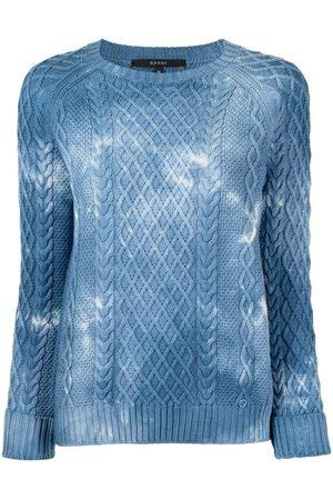 Gucci Dames Gebreide truien - Cable-knit tie-dye jumper
