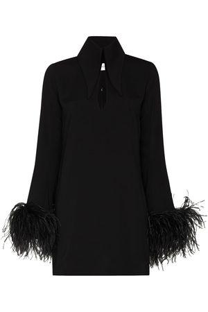 16Arlington Michelle feather-embellished mini dress