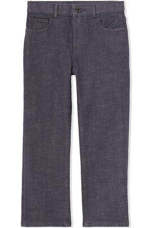 Burberry Jongens Straight - Logo-patch straight-leg jeans