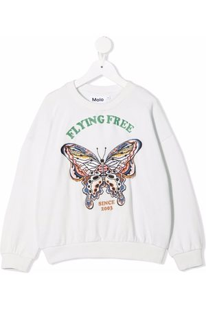Molo Kids Graphic-print crew neck sweatshirt