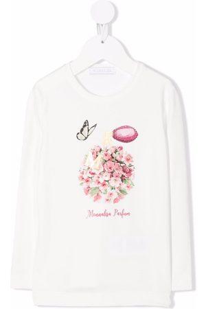 MONNALISA Logo-print crew neck sweatshirt