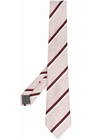Brunello Cucinelli Heren Vlinderdassen - Striped silk tie