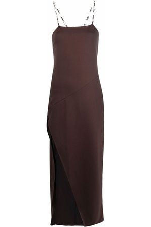The Attico Slit-detail evening dress