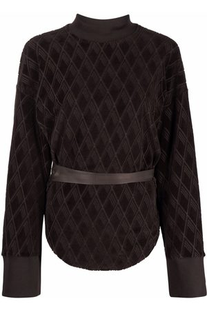The Attico Jacquard-woven velvet sweatshirt