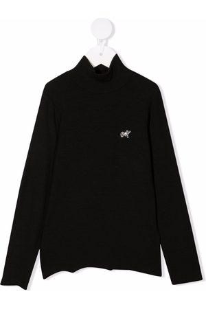 MONNALISA Rhinestone-logo sweater