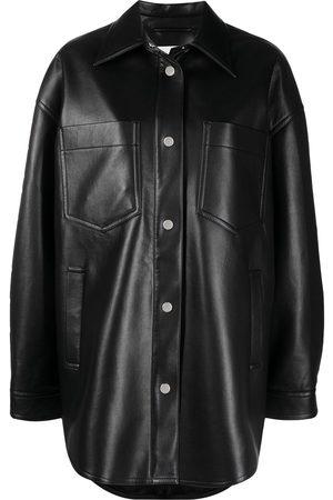 Nanushka Martin leather shirt
