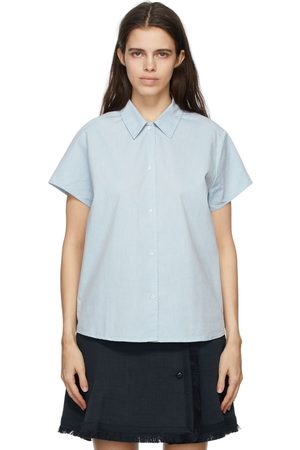 A.P.C. Blue Marina Short Sleeve Shirt